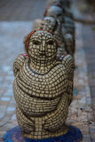 De vrouwelijke engel van gekleurd mozaïek stock afbeeldingen