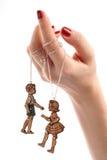 De vrouwelijke juwelen van de handmarionet Royalty-vrije Stock Foto's