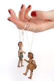 De vrouwelijke juwelen van de handmarionet Stock Afbeelding
