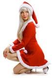 De vrouwelijke Kerstman Royalty-vrije Stock Fotografie