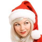 De vrouwelijke Kerstman Stock Afbeeldingen