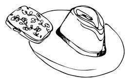 De vrouwelijke koppeling van de dame de hoed en Royalty-vrije Stock Afbeelding