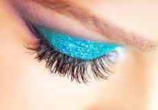 De vrouwelijke make-up van de oogstreek Royalty-vrije Stock Afbeeldingen