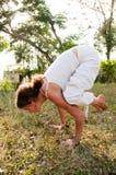 De vrouwelijke Meester van de Yoga Stock Afbeeldingen