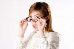 De vrouwelijke onderneemster van de verrassing Stock Foto's