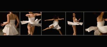 De vrouwelijke speler van de dans Stock Foto's