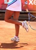 De vrouwelijke Speler van het Tennis Stock Foto's