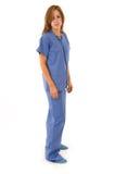 De vrouwelijke verpleegster schrobt binnen Stock Fotografie