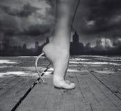 De vrouwelijke voeten van de fantasie Stock Fotografie