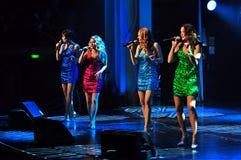 De vrouwelijke zangers groeperen zich royalty-vrije stock afbeeldingen