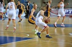 De vrouwen 21.10.2012, stad van het basketbal van Orenburg, Sou Stock Foto's