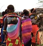 De vrouwen en de kinderen van Samburu royalty-vrije stock foto's