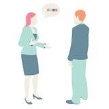 De vrouwen en de Mannen communiceren royalty-vrije illustratie