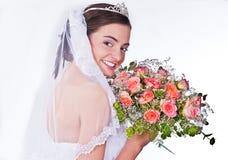 De vrouwen in huwelijk kleden zich Stock Afbeelding