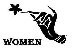 De vrouwen ondertekenen Stock Illustratie