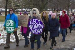 De Vrouwen ` s Maart 2018 van Hartford stock foto