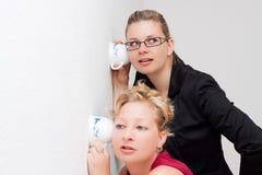 De vrouwen spioneren royalty-vrije stock foto