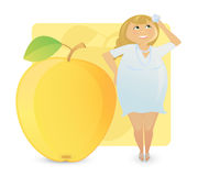De vrouwen stellen types voor: sappige appel Stock Fotografie