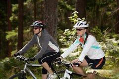 De vrouwen van Biking stock foto