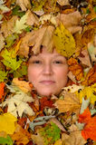 De vrouwen van de herfst Stock Afbeeldingen