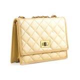 De vrouwen van de luxe doen over wit in zakken Stock Foto's