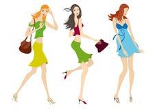 De vrouwen van de manier Royalty-vrije Stock Afbeeldingen