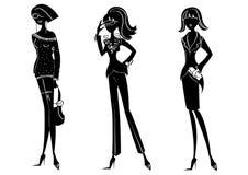De vrouwen van de manier Stock Afbeeldingen