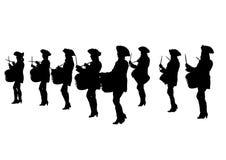 De vrouwen van de trommelparade  Royalty-vrije Stock Fotografie
