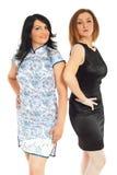 De vrouwen in verschillende stijl van manier kleden zich Stock Afbeeldingen