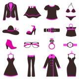 De vrouwen vormen pictogrammen Royalty-vrije Stock Foto