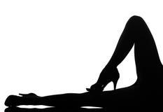 De vrouwenbenen van het silhouet stock fotografie