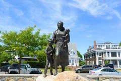 De Vrouwengedenkteken van de Visser van Gloucester, Massachusetts stock afbeeldingen