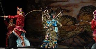 """De Vrouwengeneraals van oorlogs kwartet-Peking Opera"""" van Yang Familyâ €  royalty-vrije stock afbeeldingen"""