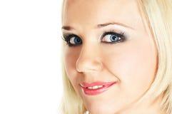 De vrouwengezicht van de close-up Stock Afbeeldingen