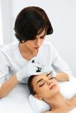 De vrouwengezicht van de schoonheid Plastische chirurgie Kosmetische anti-Veroudert Injectio stock foto