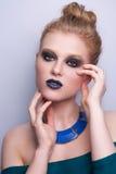 De vrouwengezicht van de schoonheidsmannequin Royalty-vrije Stock Foto