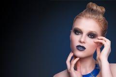 De vrouwengezicht van de schoonheidsmannequin Royalty-vrije Stock Fotografie