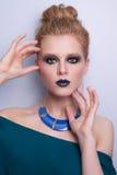 De vrouwengezicht van de schoonheidsmannequin Stock Fotografie