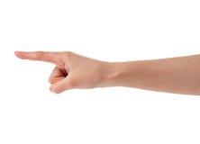 De vrouwenhand van de richting Royalty-vrije Stock Foto
