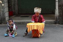 De vrouwenhandelaar van de minderheid Royalty-vrije Stock Foto