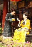 De vrouwenkeizer van Cisi van China en haar bediende stock foto's