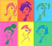 De vrouwenpop-art van de manier Royalty-vrije Stock Foto's