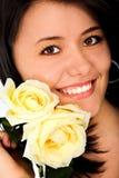 De vrouwenportret dat van de manier - glimlacht Stock Fotografie