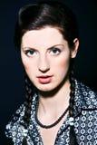 Het portret van de glamourvrouw royalty-vrije stock fotografie