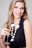 De vrouwenportret van de blonde Stock Foto