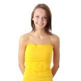 De vrouwenportret van de tiener Stock Afbeelding