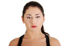 De vrouwenportret van de tiener Stock Fotografie