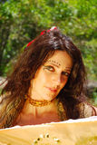 De vrouwenportret van de zigeuner Royalty-vrije Stock Afbeelding
