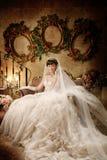 De vrouwenportret van het huwelijk Stock Foto