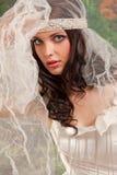De vrouwenportret van het huwelijk Stock Afbeeldingen